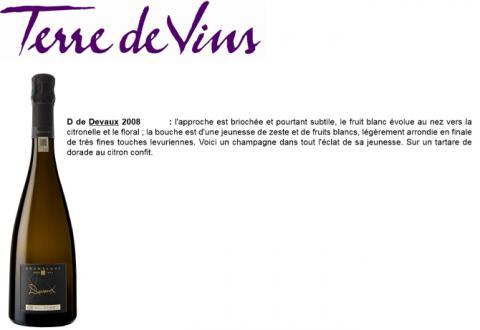 Terre de Vins - D Millésimé 2008