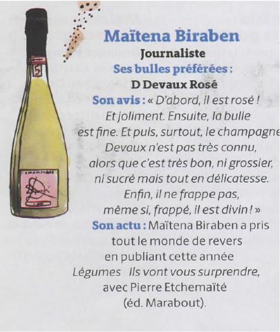 Les «bulles préférées» de Maïtena Biraben