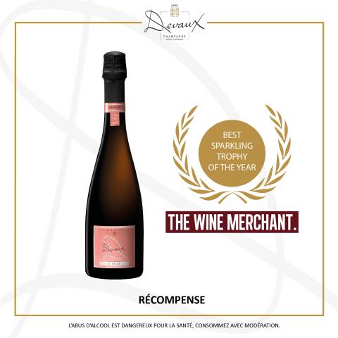D ROSÉ : Trophée du meilleur vin effervescent
