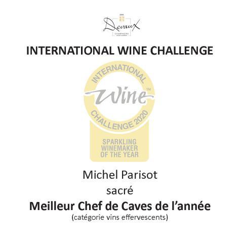 Michel Parisot : Meilleur Chef de Caves de l'année