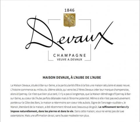 Le verre et l'assiette - Les champagnes Devaux