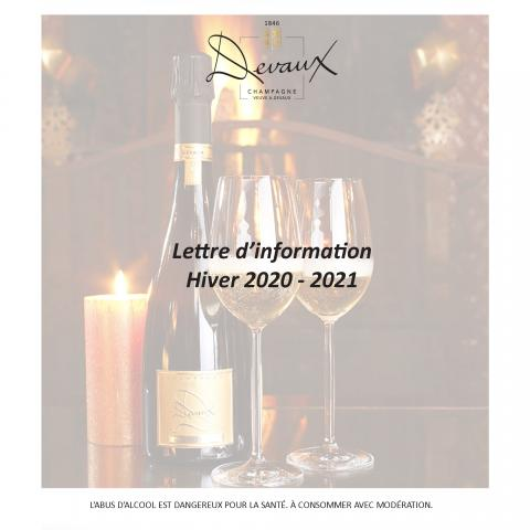 Champagne Devaux  Newsletter - Hiver 2020/2021