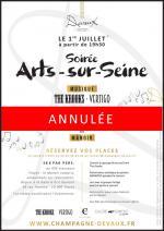 ANNULATION Soirée Arts-sur-Seine 1er juillet